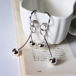 Mint neiff I pendulum elves Japan silver beads small circle earrings wear / clip