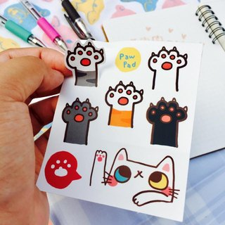 Even hand hand - hand kitten sticker set