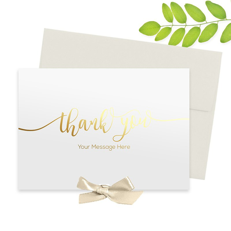 Gold Foil Thank You Card | Customizable Gold Foil Card | Thank You Card