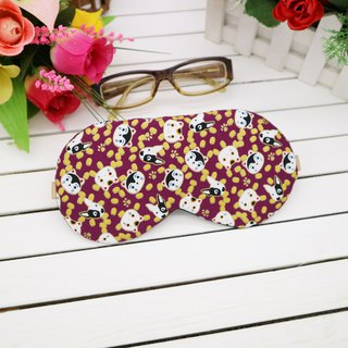 Cat face and dog head adjustable blindfold beam storage bag sleep mask
