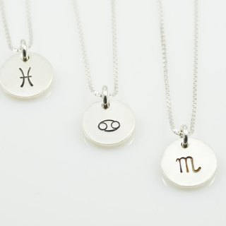 Constellation small tag necklace - water sign (one)