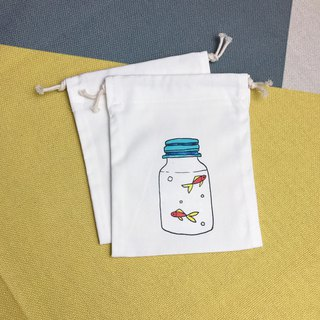 DrawString Small Fish Bottle Storage/Gift/Place/Constellation