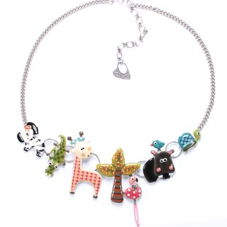 [French TARATATA] animal party series cold enamel necklace