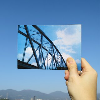 Quietly draw cool card / multifunctional storage postcard / old iron bridge