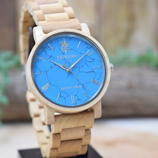 EINBAND & BOND STONE Reise Turquoise × Maplewood 40mm WOOD STONE Watch