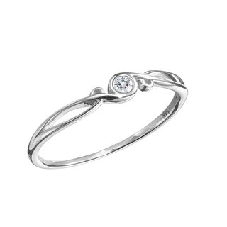 White Gold Ring Engagement, Diamond Wedding Ring, White Gold Band Promise Ring