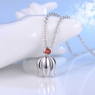 Lily Orchid Open 925 Silver Necklace Clavicle Chain