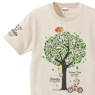 Panda and green tree Panda & Green Tree 150 160 S-XL T-shirt 【Custom order】