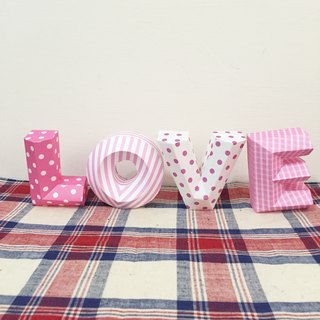 Wedding Decoration / wedding props / LOVE / three-dimensional character / small section / pink