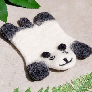 Christmas gift ethnic wind forest wool felt coaster animal animal coaster - panda water coaster
