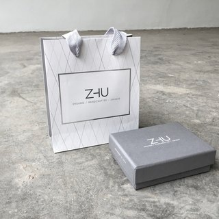 ZHU design products - gray gift box + bag (Gift packaging)