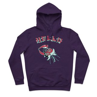 Eating strawberries - purple - Hooded T-Shirt