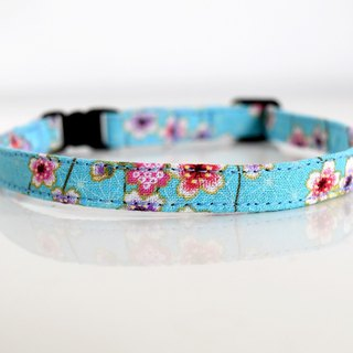 Japanese kimono design chery blossom Breakaway Safety Cat Collar