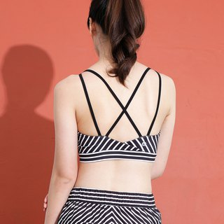 Stripe Bra - Black / White