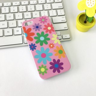 Flowers Pink Print Soft / Hard Case for iPhone X,  iPhone 8,  iPhone 8 Plus,  iPhone 7 case, iPhone 7 Plus case, iPhone 6/6S, iPhone 6/6S Plus, Samsung Galaxy Note 7 case, Note 5 case, S7 Edge case, S7 case