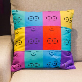Color mailbox square pillow Cushion