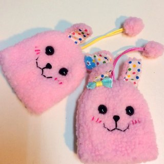 RABBIT LULU 【Bunny eyebrow big eye handsome rabbit key bag pink】 Creative market dedicated Rabbit slave dedicated