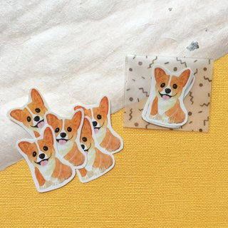 Watercolor Corgi Sticker Pack