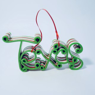 TEXAS text Christmas strap