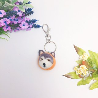 【Year of the Dog】 Orange Lee felt key ring custom-made can add odd new year orange big auspicious dog keychain