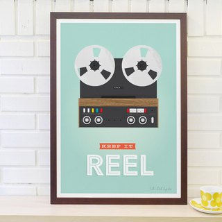 Nordic simple retro poster Keep it reel Original customizable paintings (excluding frame)