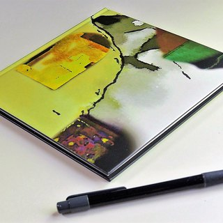 original design hardcover notebook journal abstract in yellow minor