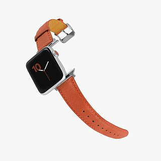 Multicolor Real Leather Series Macaron Dream Orange Orange Apple Watch Apple Watch Strap