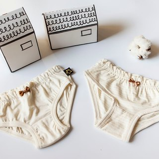 [my little star] pure organic cotton children's underwear (two combination of special _ natural rice and rice stripes)