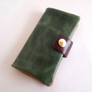 Green * Sumaho notebook type [Made to order] Multi-model compatible * Nibric leather * 7 colors (iphone 7, xperia, galaxy)