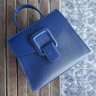 PINCH NO.1 (Deep Blue 22 inches) Classic and Iconic Leather Handbag/Crossbody