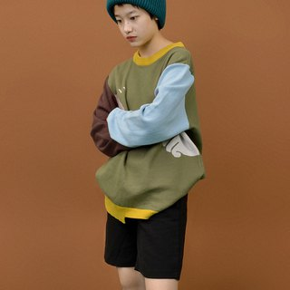 YIZISTORE original new winter men and women loose knit sweater - Green No. 3