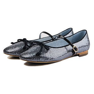 Galaxy W1073 Blue Leather Flats