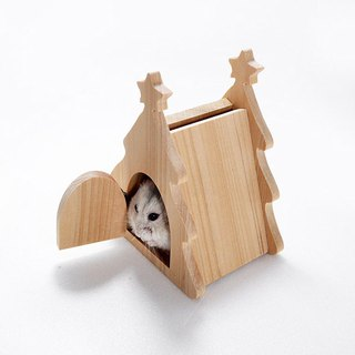 Hamster sleeping nest Christmas tree pet Christmas exchange gift storage box small-moving workshop wood