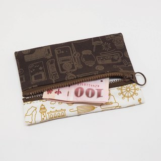 Nostalgic Taiwan [change bag / coffee zipper version]