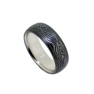 Mumu gold-black sandaling ring
