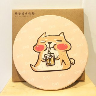 Ceramic water coaster / Bucket brother drink juice