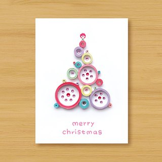 Hand-rolled paper stereo card _ blessing from afar ‧ dream bubble Christmas tree _F