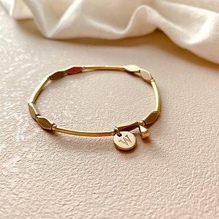 Mark-Letter brass bracelet