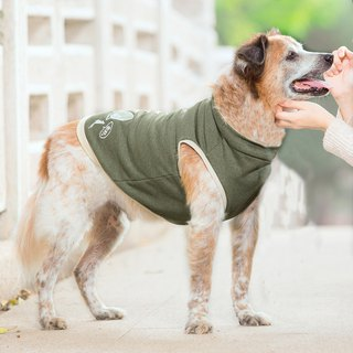 Tencel capless pet thermal vest - green