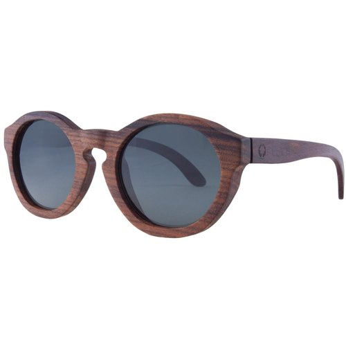 Plantwear European handmade wood sunglasses - retro series - rose solid wood frame + space gray lens