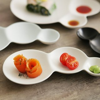 Bubble Rhythm Appetizer Plate - Matt White