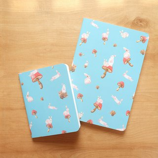 Notebook set : Rabbit in the Space (set of 2)