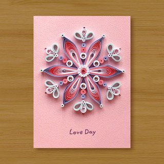 Handmade Roll Paper Card _ Flower Love Mandala Love Day ... Universal Card
