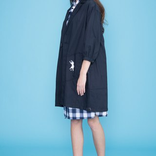 Cat ear pocket wool coat