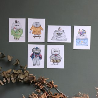 Postcard / Kuka / cat postcard sets / 6 / special offers