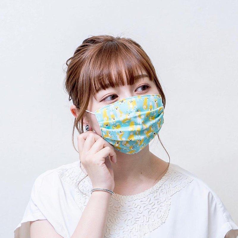 柴犬 由本店原創設計 手工立體口罩 可洗滌 日本製純棉紗布 成人