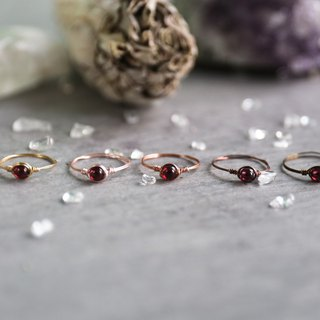 3.5mm red garnet copper wire ring ring can be multicolor copper wire free choice female big love marriage beauty
