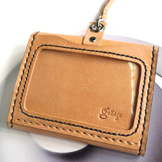 <yummy1982專屬訂單> Horizontal simple identification tag hanging + taste rope hanging - multi-function models - primary color vegetable tanned leather