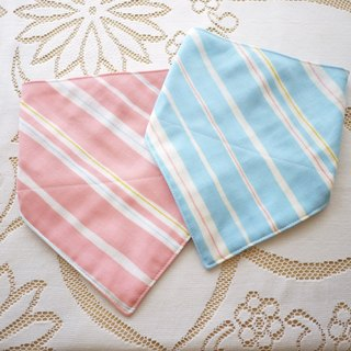 Triangle scarf saliva towel - temperament stripe (water-absorbing quick-drying pure cotton yarn)