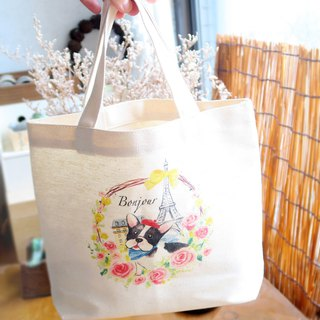Bonjour ! Paris canvas bag